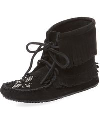 Manitobah Mukluks | Harvester Suede Moccasin Bootie | Lyst