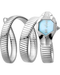 Just Cavalli - Stainless Steel With Stones Watch, 22mm - Lyst