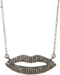 Adornia - Silver Necklace - Lyst