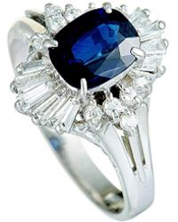 Heritage Platinum 1.55 Ct. Tw. Diamond & Sapphire Ring - Metallic