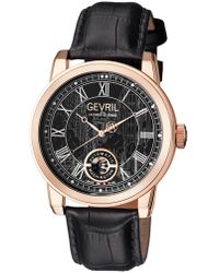 Gevril Watches - Washington Black Dial Watch, 47mm - Lyst