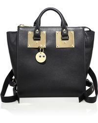 Sophie Hulme - Small Holmes Leather Mini Backpack - Lyst
