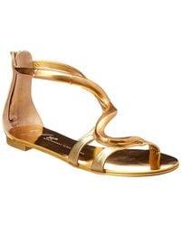 Giuseppe Zanotti Metallic Leather Sandal