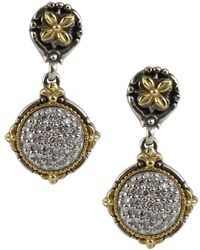 Konstantino - Asteri Pavé White Diamond, 18k Yellow Gold And Sterling Silver Drop Earrings - Lyst