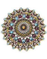 Heidi Daus - Round Crystal-embellished Pin - Lyst