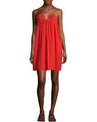 Marabelle - Lace Applique Mini Dress - Lyst