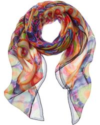 Givenchy - Abstract Circle Silk Scarf - Lyst