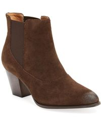 Corso Como - Cobleskill Leather Ankle Bootie - Lyst