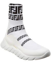 Fendi - Ff Signature Socks Trainer - Lyst