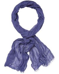 John Varvatos - Collection Solid Colour Skinny Crinkle Gauze Scarf - Lyst