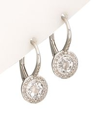 Diana M. Jewels - 14k 1.53 Ct. Tw. Diamond & Topaz Earrings - Lyst