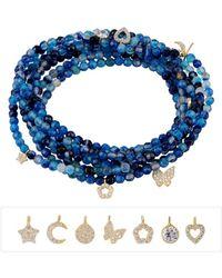 Gabi Rielle - 22k Gold Vermeil Lapis, Agate & Charm Bracelet - Lyst