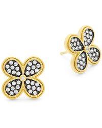 Freida Rothman - Pave Clover Oversized Stud Earrings - Lyst