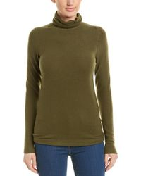 Three Dots Turtleneck Jumper - Green