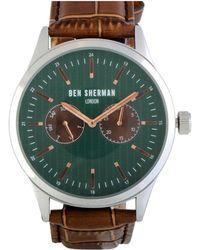 Ben Sherman - Men's Leather Watch - Lyst