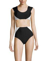 Mouillé Swim - Lupita Bikini Top & High Waist Panel Bottom - Lyst