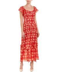 Anna Sui - Chasing Hearts Silk-blend Maxi Dress - Lyst