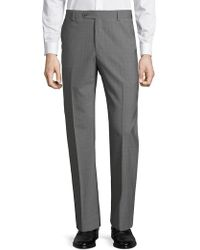Saks Fifth Avenue - Textured Wool Dress Pants - Lyst