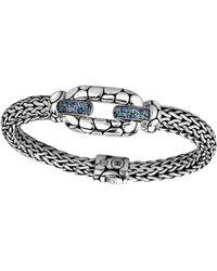John Hardy - Kali Silver Blue Topaz & Iolite Lava Station Bracelet - Lyst