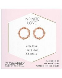 Dogeared - 14k Rose Gold Over Silver Crystal Studs - Lyst