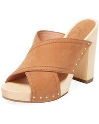Joie - Dotty Leather High Heel Sandal - Lyst