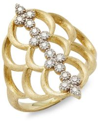 Jude Frances - Moroccan 18k Yellow Gold Quad Open Crescent Ring - Lyst