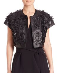 Natori - Faux Leather 3d Bolero Jacket - Lyst