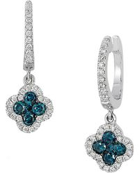 Le Vian - Exotics Multi-color Diamond And 14k Vanilla Gold Drop Earrings - Lyst