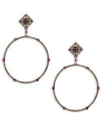 Bavna - Silver 2.05 Ct. Tw. Diamond Drop Earrings - Lyst