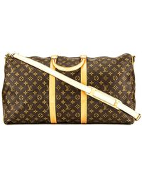 Louis Vuitton - Monogram Canvas Keepall 55 Bandouliere - Lyst