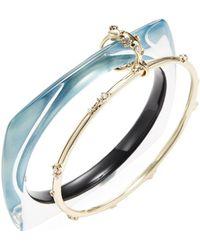 Alexis Bittar - Lucite Geometric Linked Bangle Bracelet - Lyst