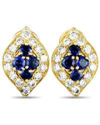 Heritage Van Cleef & Arpels - Van Cleef & Arpels 18k 1.40 Ct. Tw. Diamond & Sapphire Earrings - Lyst
