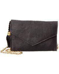 Chanel - Vintage Black Woven Raffia Flap Bag - Lyst