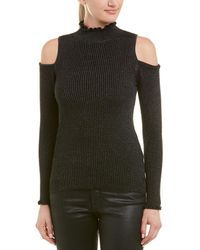 Rebecca Taylor Cold-shoulder Wool-blend Jumper - Black