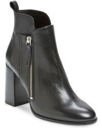Pure Navy - Bambali Leather Ankle Boot - Lyst