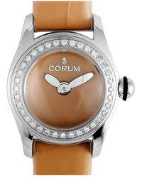 Corum Women's Leather Diamond Watch