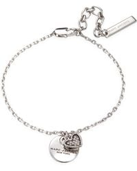 Marc Jacobs - Coin & Heart Charm Chain Bracelet - Lyst