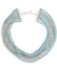 ABS By Allen Schwartz - Pop Of Colour Multi-strand Necklace - Lyst