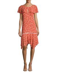 ABS By Allen Schwartz - Floral Capelet Dress - Lyst