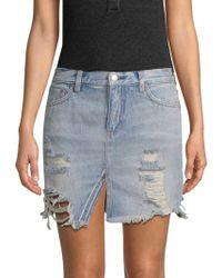 Free People - Relaxed & Destroyed Skirt - Lyst