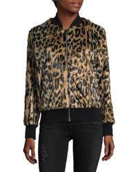 Love Token - Faux Fur Animal-print Jacket - Lyst