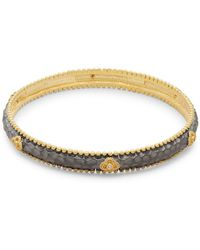 Freida Rothman - Crystal & Sterling Silver Clover Bangle Bracelet - Lyst