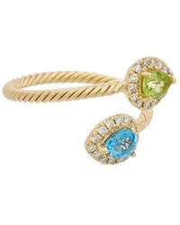 Effy - Fine Jewellery 14k 0.81 Ct. Tw. Diamond & Gemstone Cable Wrap Ring - Lyst