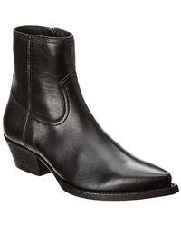 Saint Laurent Lukas Leather Bootie
