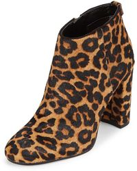 Sam Edelman - Cambell Leather & Fur Booties - Lyst