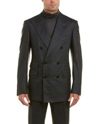 Tom Ford - 2pc Wool& Silk-blend Suit With Pleated Pant - Lyst