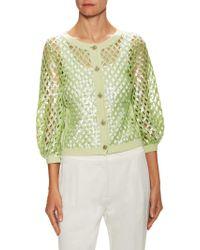 Chanel - Vintage Cashmere Sequin Cardigan - Lyst