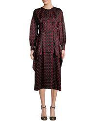Fendi - Silk Shirtdress - Lyst