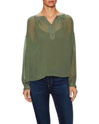 MiH Jeans | Oldfield Silk Blouse | Lyst