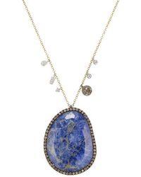 Meira T - Tanzanite & Diamond Necklace - Lyst